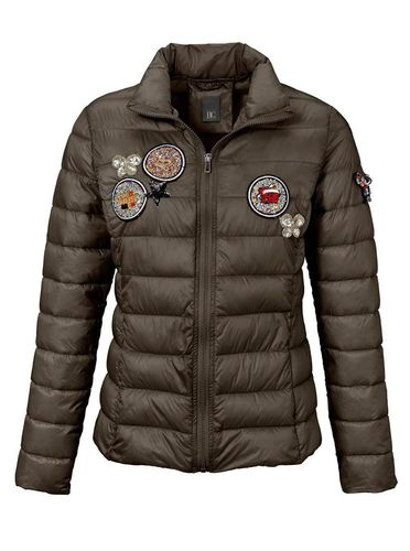 Designer Steppjacke oliv  m.Patches gr 38